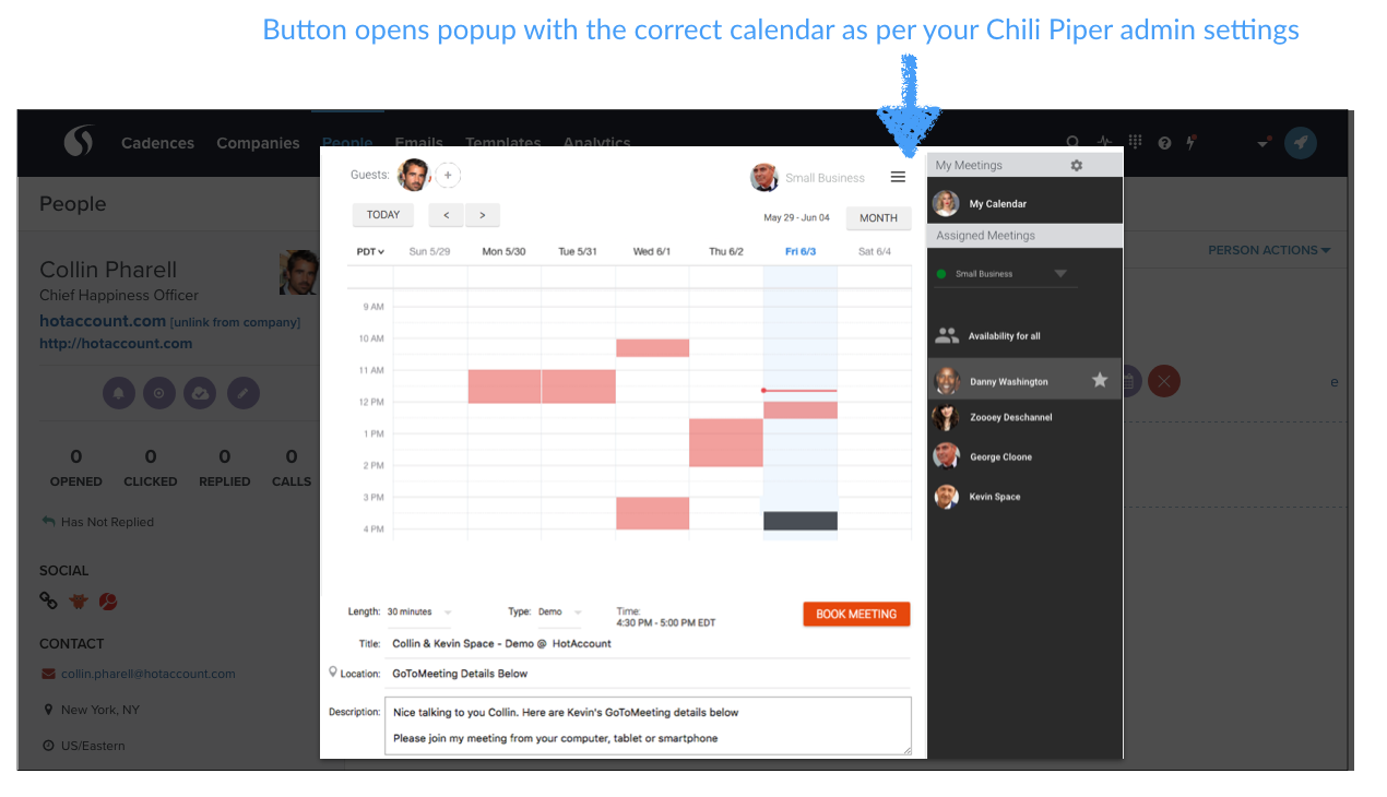salesloft calendar
